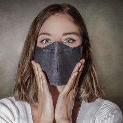 Masque respiratoire en tissu réutilisable