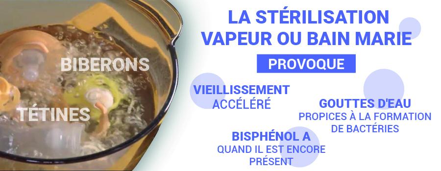Stérilisation vapeur ou bain marie